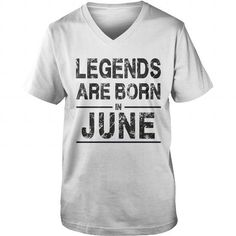 I Love June Legends are Born in June Shirts & Tees