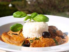 Kyllinggryte med paprika og oliven