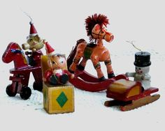 wooden christmas tree toys