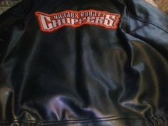 OCC Orange County Choppers Black & Red Back of Leather Jacket