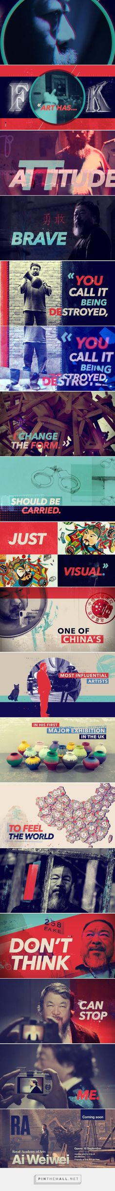 Royal Academy | Ai WeiWei Promo on Behance - created via http://pinthemall.net