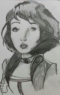 Elizabeth Comstock from Bioshock Infinite :) #Art #Draw #Drawing #Sketch #Graphite #6B