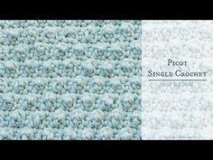 Hopeful Honey | Craft, Crochet, Create: How To: Crochet The Picot Single Crochet - Easy Tutorial