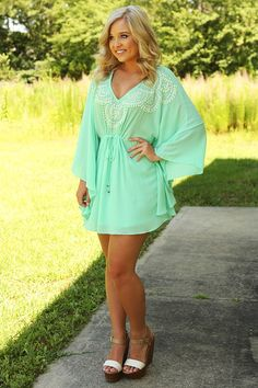 Ark & Co: Carved In Stone Dress: Mint/Multi #shophopes #arknco
