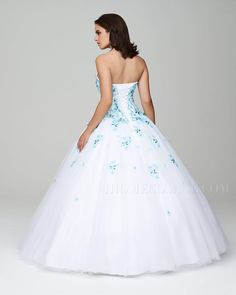 Luxurious Appliques Lace-Up Floor-Length Ball Gown Tull Prom Dress Quinceanera Cheap Homecoming Dresses, Prom Dresses For Sale, Prom Dresses Online, Quinceanera Dresses, Formal Dresses, Pretty Dresses, Beautiful Dresses, Quince Dresses, Colored Wedding Dresses