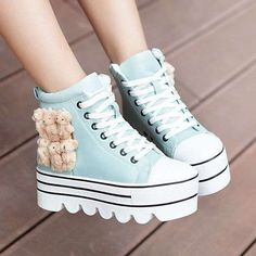 sneakers Japan and South Korea edition autumn women shoes student shoes heavy-bottomed platform shoes Winnie the low-heeled women's boots with boots Martin boots - Taobao Sock Shoes, Cute Shoes, Me Too Shoes, Shoe Boots, Women's Boots, Kawaii Shoes, Kawaii Clothes, Fashion Boots, Sneakers Fashion