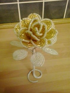 French beaded rose - for sale