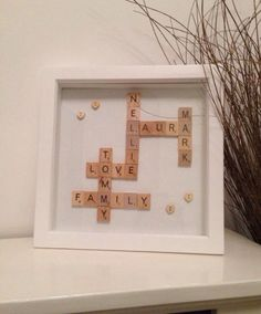 #personalised #art #word #scrabble #frames #family #love any lettering just get in touch to discuss... £25