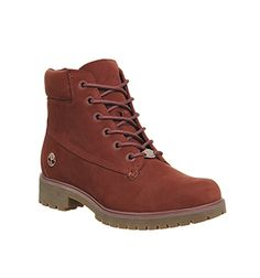 Timberland Slim Premium 6 Inch Boots Chestnut Nubuck - Ankle Boots