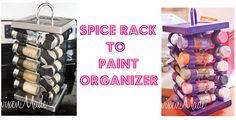 I so need to think more out the box. Great craft paint storage idea.