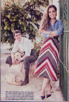 Maria José Campanario lleva #pulsera y #anillo de Rocio Porres Joyas