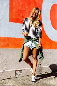 stripes / cut offs / sneaks