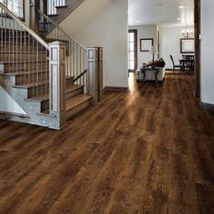 Your basement flooring options are not really any different from the flooring options elsewhere in your home. Everything from ceramics to hardwood, all are possible choices for your basement floor… Vinyl Hardwood Flooring, Basement Flooring, Vinyl Planks, Bathroom Flooring, Laminate Flooring, Types Of Wood Flooring, Basement Stair, Diy Wood Floors, Vinyl Wood
