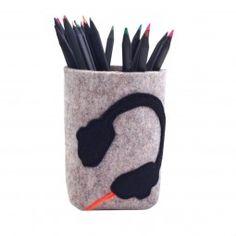 Stiftebox für den Schreibtisch mit Kopfhörer. Nicht nur für coole Jungs!