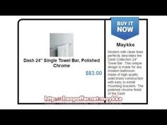 """http://cheapoffer.net/maykke, Dash 24"""" Single Towel Bar, Polished Chrome, Modern with clean lines perfectly describes the Dash Collection 24"""" Towel Bar. This unique design is made for any modern bathroom. Made of high quality solid brass construction with easy to install mounting brackets."""