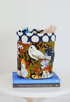 DIY: fabric baskets