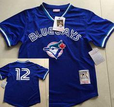Toronto Blue Jays #12 Roberto Alomar Mesh BP 1993 Royal Blue Throwback Men's Jersey