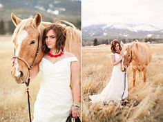 I must find a way to have a horse for wedding photos! Or save it for a trash the dress sesh??