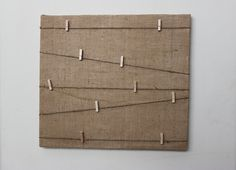 """Burlap Message/Memory Board with Jute Twine and Clothespins 16""""x17.5"""""""