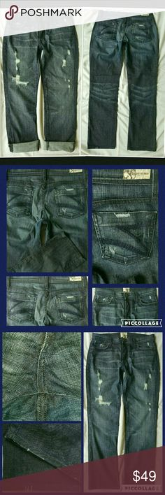 Dylan George Destructed Slouchy Boyfriend Jeans Gr8 condition!! Has some slight wear at crotch consistent w/light wear & laundering,  pls see pic 3,top left corner Sz 28 Dylan George Straight leg Slouchy Boyfriend jeans Boy FIT jeans in med/dark Destructed wash, *hems have intentional distressing artisan applied pls see pics * Oversized fit when worn TTS, I wore these when I fit sz 30 as a slim Bfriend jean. Pls request measurements  *these are a similar style/fit & wash as Dylan George…