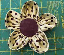 Fabric Flower Tutorial - Free  Flower Pattern