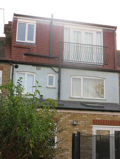 Loft conversion rear view of dormer and Juliette Balcony