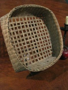Antique 1800s New England Shaker Herb Drying Basket Without Handles Sold North Bayshore Antiques
