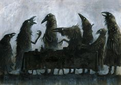 """checanty: """" The 7 Ravens - Table book 