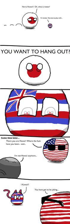 Hawaii? | Polandball
