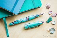 Spring for a new fountain pen! The Edison Nouveau Premiere Seaglass fountain pen is a gorgeous new edition and is only available spring 2017. Pin for later.