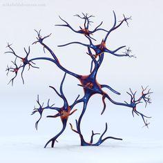 """Neuronic""- Modern Sculpture by Mike Fields"