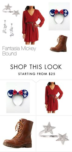 """fantasia mickey bound"" by disneyboundqueen on Polyvore featuring Charlotte Russe, Bamboo, Elise Dray and Tiffany & Co."