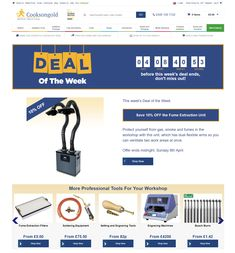 Countdown Timer used on CooksonGolds website, counting down to end of their weekly deal #Web #Digital #Online #Marketing #CountdownTimer #Deal #Offer