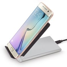 Amazon.com: Qi-BMRTM Qi 3-Coils Wireless Charger Dock (Silver/Black) for Samsung S6/S6 Edge, HTC 8X, MOTO X/360, Nokia 820/920/928/930/1520, Google Nexus 4/5/6/7 and Other Qi-enabled Phones and Tablets: Cell Phones & Accessories
