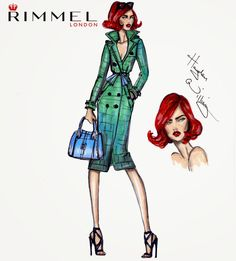 #Hayden Williams Fashion Illustrations #Hayden Williams x Rimmel London LFW look 4