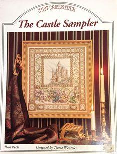 The Castle Sampler - Teresa Wentzler cross stitch chart embroidery Sewing Magazines, Vintage Magazines, Cross Stitch Embroidery, Cross Stitch Patterns, Vintage Cross Stitches, Price Sticker, Vintage Knitting, Blackwork, Needlework