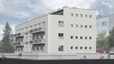 Architecture building project visualization tenement house