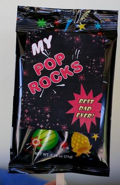 My Pop Rocks. Free Father's Day printable!