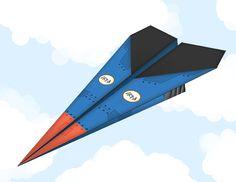 Printable Paper Airplane Template