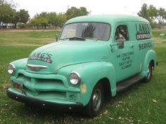 Seafoam Green 1954 Chevy Panel Truck