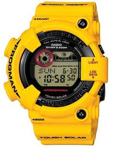 4a5d2197211 Casio G-Shock Atomic Solar Frogman - Tide   Moon Graph - Yellow Case   Strap