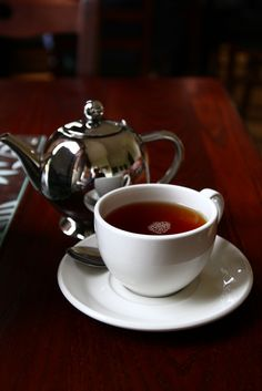 A cup of Earl Grey tea fittingly at Howick Hall where its inventor lived.