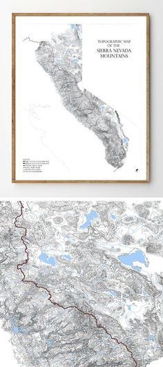 11 Best Mountain Range Maps | Detailed Contour Line Maps of ... Topological Maps Of Asheville on