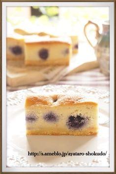 簡単!混ぜるだけ!ブルーベリーのアーモンドチーズケーキ|レシピブログ
