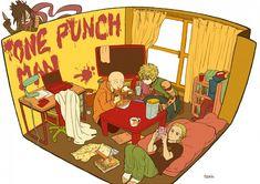 One Punch-Man/Saitama,Genos,King,Sonic