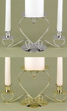 Triple Heart Candle Stand