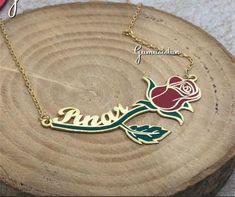 Personalized handmade jewelry by Alpdesignn Name Necklace, Pendant Necklace, Personalized Necklace, Etsy Seller, Handmade Jewelry, Creative, Handmade Jewellery, Jewellery Making, Diy Jewelry