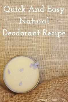 FAB, effective & easy home made deodorant
