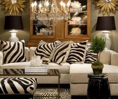 Decoration Zebra Print Pillows For The Living Room Trendspotting Getting Wild With Animal Prints Picture Good Chandelier Some Cushions