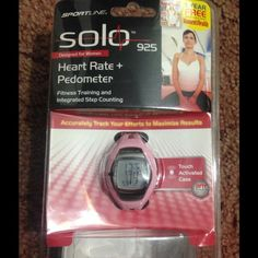 💥NEW💥 SPORTLINE SOLO 925 Women's Watch 💥NEW💥 Sportline 925 watch. I did open it to see the features of this watch but it is unused, still in package with face protector.  It tracks your heartbeat and steps👍 plus much much more!! Sportline Accessories Watches